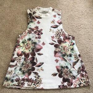 Floral sleeveless top from papaya